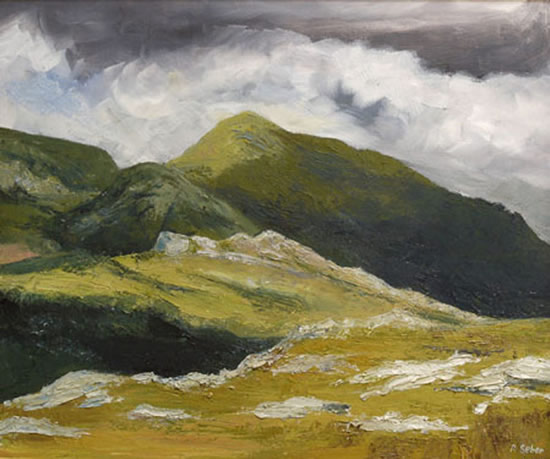 Scotland - Clisham - Rose Seber - Rock Climbing and Mountain Art and Stone Lithography - Surrey Art Gallery