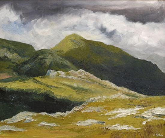 Scotland - Clisham - Rose Seber - Rock Climbing and Mountain Art and Stone Lithography - Surrey Art Gallery