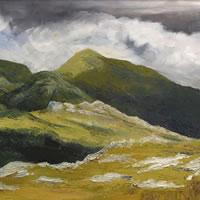 Scotland – Clisham – Rose Seber BA Hons, SGFA – Rock Climbing and Mountain Art and Stone Lithography – Guildford Art Society – Farnham Art Society – Society of Graphic Fine Artists – Surrey Art Gallery