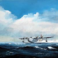 Short Sunderland Flying Boat – Doug Myers – Portrait and Fine Artist – Chertsey Artists – Surrey Art Gallery