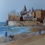 Sitges Beach near Barcelona – Woking Society of Arts – David Harmer – Surrey Artist