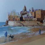 Sitges Beach near Barcelona – Woking Society of Arts – David Harmer – Surrey Artist