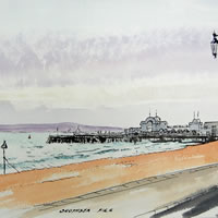 Southsea Pier – Hampshire – Doug Myers – Portrait and Fine Artist – Chertsey Artists – Surrey Art Gallery