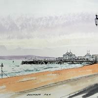 Southsea Pier – Hampshire – Doug Myers – Portrait and Fine Artist – Chertsey Artists – Surrey Art Gallery