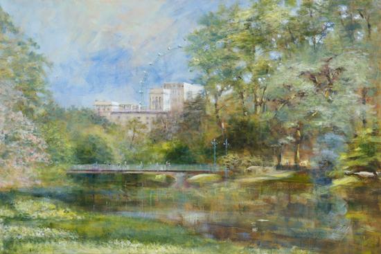St James's Park London in Spring - London Gallery - Farnham Surrey Artist Michael Walsh - Society of Graphic Fine Art