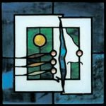 Stained Glass – Modern Art Square 1 – Surrey Artist Sherif Amin – Stained Glass Designer and Manufacturer and Painter