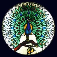 Stained Glass – Peacock – Surrey Artist Sherif Amin – Stained Glass Designer and Manufacturer and Painter