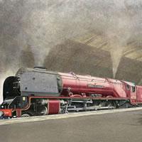 Steam Train – Duchess of Sutherland – Surrey Art Gallery – Artist John Healey – Woking Society of Arts