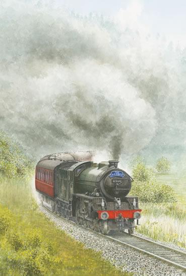 Steam Train - The Jacobite - Surrey Art Gallery - Artist John Healey - Byfleet Art Group