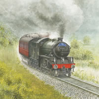 Steam Train – The Jacobite – Surrey Art Gallery – Artist John Healey – Byfleet Art Group