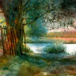 Storm In Home Park – John Walsom – Contemporary and Architectural Artist – Buildings and Interiors in Oils, Acrylics and Watercolours – Surrey Art Gallery