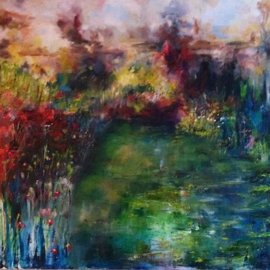Summer 1 - Stephen Kinder - Godalming Artist - Farnham Arts Society - Surrey Art Gallery