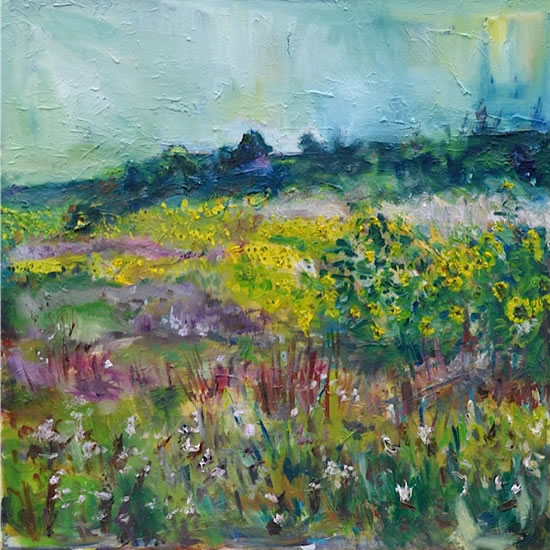 Summer Flowers 2- Stephen Kinder - Godalming Artist - Farnham Arts Society - Surrey Art Gallery