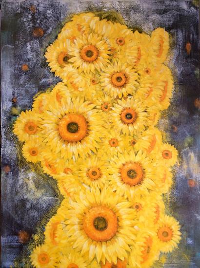Sunflowers - Coexistence 1 - Surrey Artist - Rajin Park