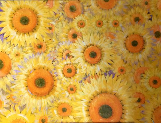 Sunflowers - Coexistence 2 - Surrey Artist - Rajin Park
