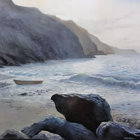 Sussex Coast – Journey's End – Daniele Mandelli – Painter of Oils – Surbiton Arts Group – Surrey Art Gallery