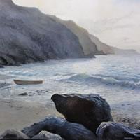 Sussex Coast – Journey's End – Daniele Mandelli – Painter of Oils – Surbiton Arts Group – Surrey Art Gallery