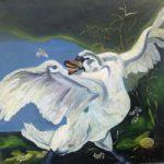Swan – A Mothers Love – No Fear – South African Artist – Richard Dunn – Gallery – Artist In Oils