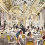 Tea at the Ritz Hotel – London Art Gallery – Artist John Healey – Byfleet Art Group