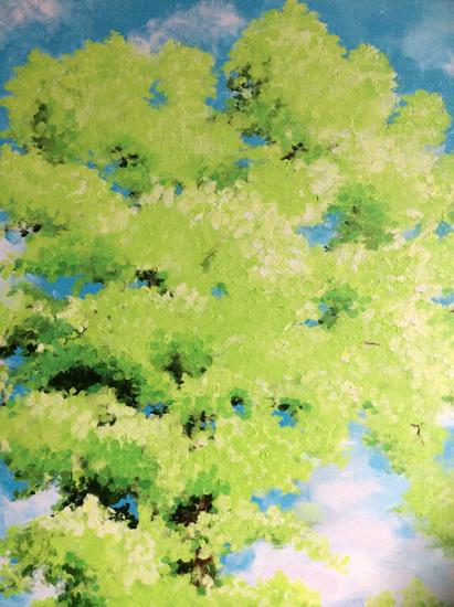 Tree and Sky - Listen Up 2 - Surrey Artist - Rajin Park - New Malden