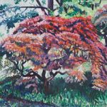 Tree at Ramster Gardens, Chiddingfold Surrey – Hampshire Artist Nicholas Walsh – Farnham Art Society