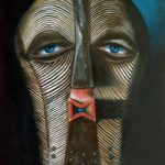 Tribal Art – Eye Contact – Romy Rey – Artist Painting Landscapes, Dreamscapes, Geometrics, Ancient and Tribal – Surrey Art Gallery