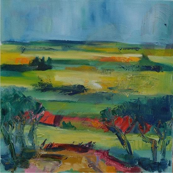 Tuscan Landscape, Italy - Stephen Kinder - Godalming Artist - Farnham Arts Society - Surrey Art Gallery