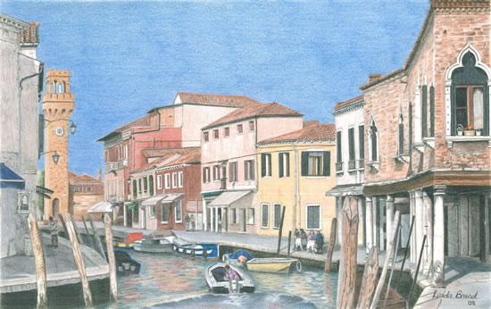 Venice - Murano Island - Award-Winning Surrey Artist - Linda Brand UKCPS - Gallery - Pencil Artist