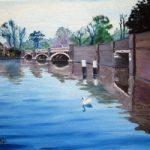 Old Bridge in Weybridge – Wey Navigation Canal Art Gallery
