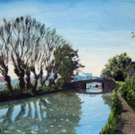Wey Navigation Canal and Bridge, Surrey – Doug Myers – Surrey Art Gallery