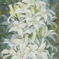 White Lillies – Flowers Gallery – Farnham Surrey Artist Michael Walsh – Society of Graphic Fine Art