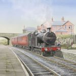 Steam Train at Wilsden Station Bradford – Yorkshire Art Gallery – Artist John Healey – Woking Society of Arts
