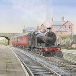 Steam Train at Wilsden Station Bradford – Yorkshire Art Gallery – Artist John Healey – Woking Society of Arts