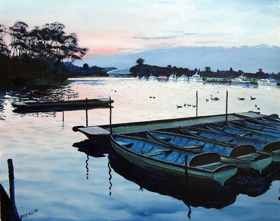 Windsor Rail Bridge - Berkshire - Doug Myers - Portrait and Fine Artist - Chertsey Artists - Surrey Art Gallery