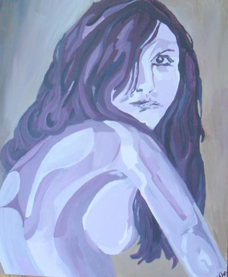 Woman - Gill - Contemporary Art Gallery - London Artist Elaine Pigeon