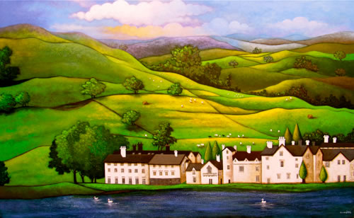 Lake District - Contemporary Landscape by Sunita Khedekar