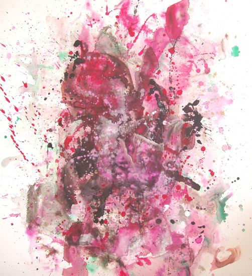 Abstract Art - Child Of The Universe - Surrey Artist Fiona Channon - Oils, Inks and Drawings