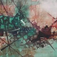 Abstract Art – Cosmic Explosion – Surrey Artist Bruce Beaugeard – Gallery