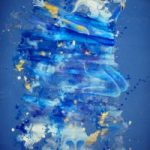 Abstract Art – Jumping Jester – Surrey Artist Fiona Channon – Inspired Art – Paintings in Oils and Inks and Drawings
