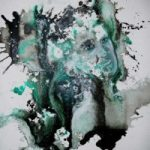 Abstract Art – Two Ways – Surrey Artist Fiona Channon – Oils, Inks and Drawings