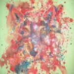 Abstract Art – Wolf Within – Surrey Artist Fiona Channon – Inspired Art – Oils, Inks and Drawings