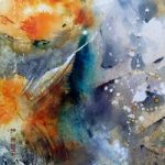 Abstract, Contemporary Art – Fishpond – Surrey Artist Ingrid Skoglund – Guildford Art Society, Village Artists and West Surrey Artists