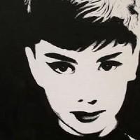 Audrey Hepburn Portrait – Surrey Artist Chris Cunningham – Portrait Artist – Commissions Invited for Paintings of Film Stars, Rock Stars, Anyone Else