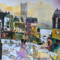 Autumn in Fowey, Cornwall – Nagib Karsan – Artist in Watercolours, Mixed Media and Collage – Dorking Group of Artists