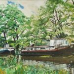 Barges – Past their Time – Rodney Thomas Annetts – Woking Society Of Arts – Surrey Artists Gallery