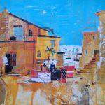 Belize, Caribbean – Tobacco Caye – Nagib Karsan – Artist in Watercolours, Mixed Media and Collage – Guildford Art Society