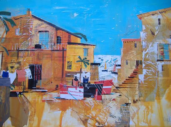 Belize, Caribbean - Tobacco Caye - Nagib Karsan - Artist in Watercolours, Mixed Media and Collage - Guildford Art Society