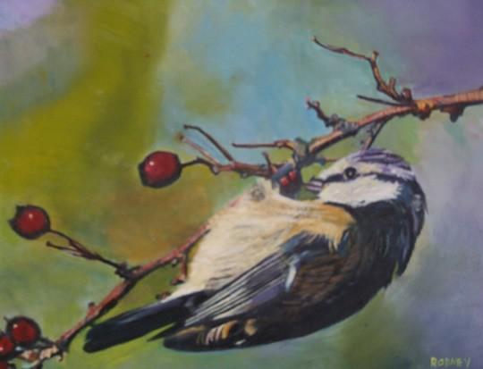 Bird - Blue Tit - Surrey Artist Rodney Thomas Annetts - Woking Society Of Arts