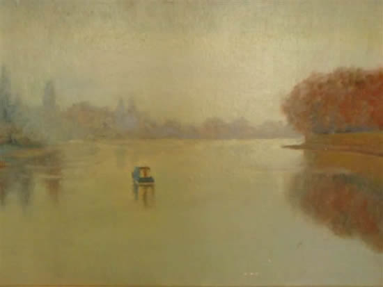 Boating on the River Thames - James Carey-Wilson - Fine Art and Specialist Decorative Painting - Surrey Art Gallery