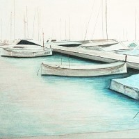 Boats – Ibitha – Surrey Artist Usha Chambore – Acrylic Paintings and Prints